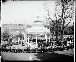 Original glass plate negative from 1904 Bradford Exhibition